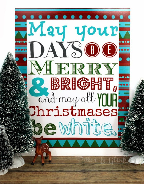 21 Free Christmas Printables - Pitter and Glink