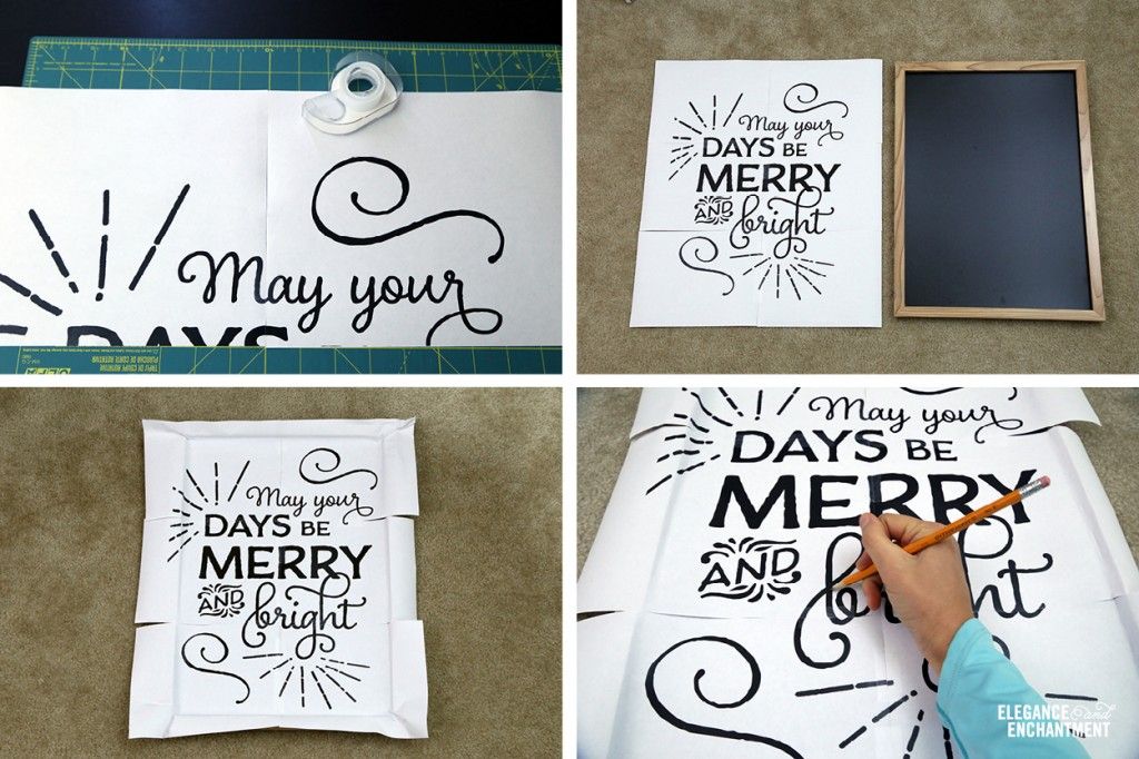 photo about Printable Chalkboard Letters called The Excellent Chalkboard Lettering Experiment + a free of charge Xmas