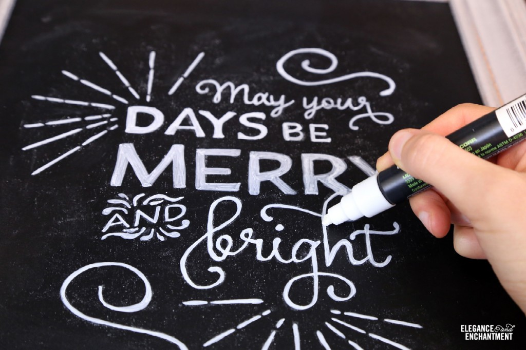 image regarding Printable Chalkboard Letters titled The Best Chalkboard Lettering Experiment + a totally free Xmas
