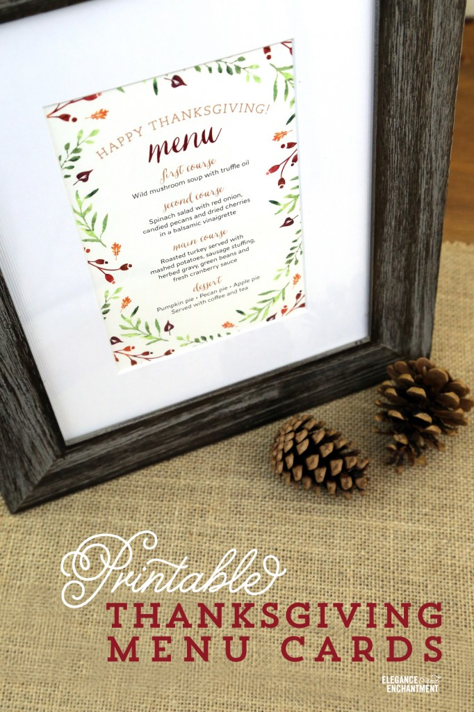 image about Printable Thanksgiving Menu titled Thanksgiving Menu Printables