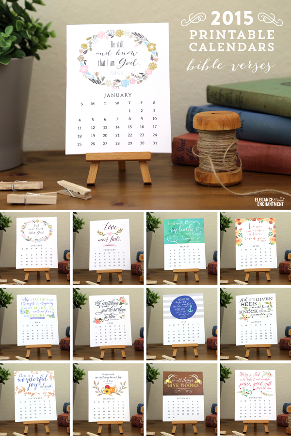 Enchanted Prints 2015 Calendars - Bible Verses