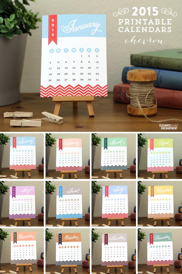 Enchanted Prints 2017 Calendars Chevron