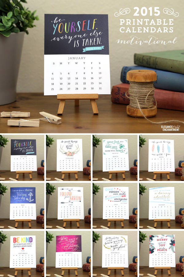 Enchanted Prints 2015 Calendars - Motivational