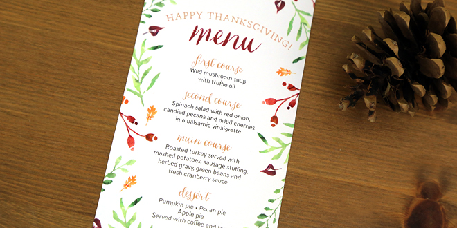 graphic relating to Printable Thanksgiving Menu known as Thanksgiving Menu Printables