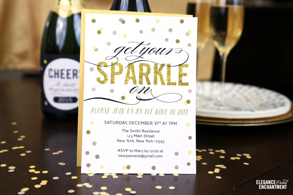 Free Printable New Year\'s Eve Party Invitation