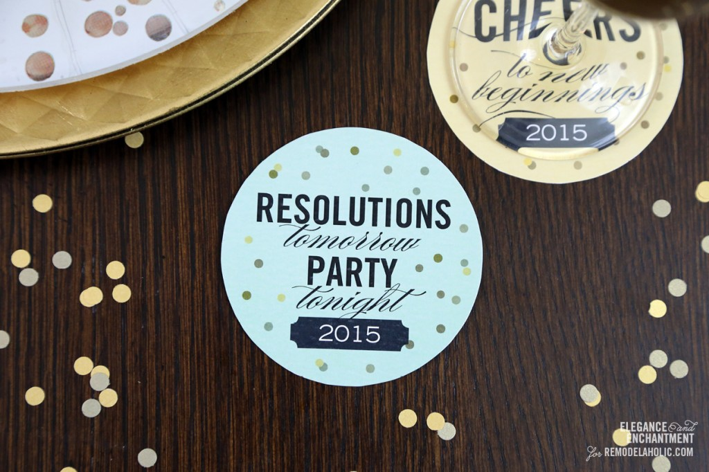 Free Printable New Year's Eve Party Coasters from Elegance & Enchantment