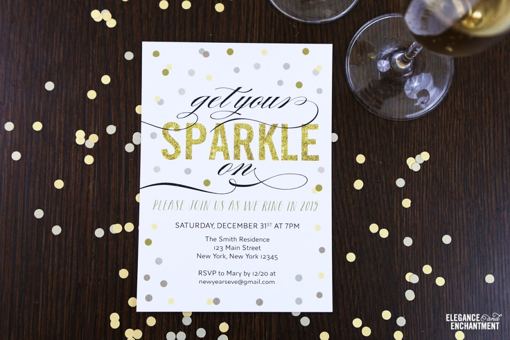 Free Printable New Year's Eve Party Invitation