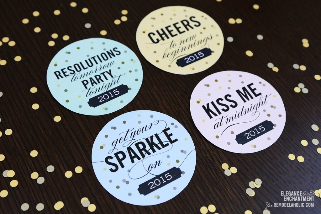 Decisive image with printable coasters