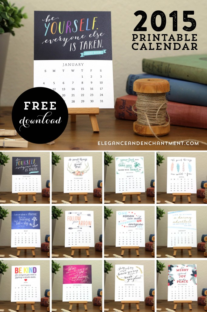 Calendar Inspirational : Free printable motivational desk calendar