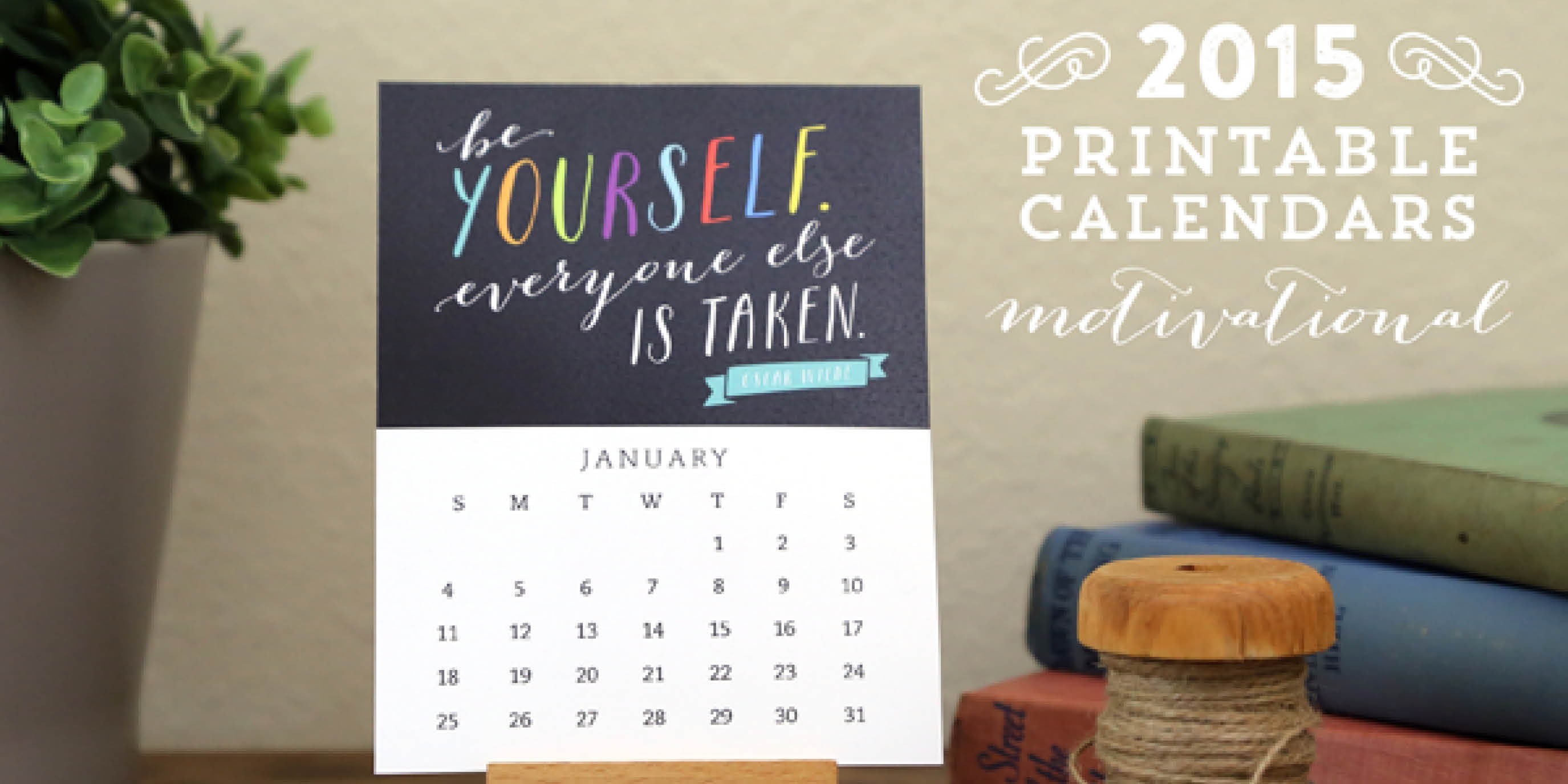 Free Printable Motivational calendar from Elegance & Enchantment