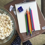 This afternoon is all about popcorn, polka dots and pencils.…