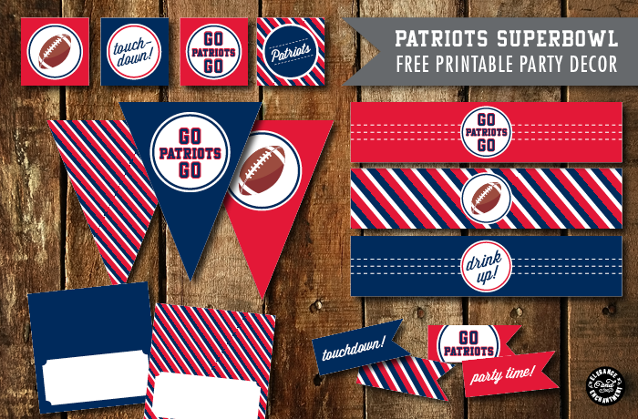 Superbowl Party Printables 2015 Patriots Vs Seahawks