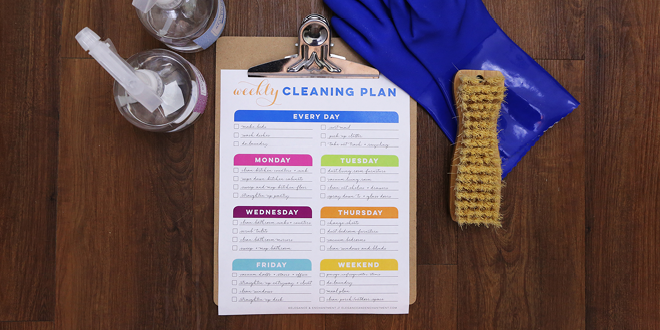 Free Printable Cleaning Planner from Elegance and Enchantment // One blank planner + one already filled in!
