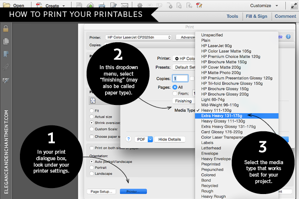 How To Print Your Printables From Elegance And Enchantment Say Goodbye Jammed Paper
