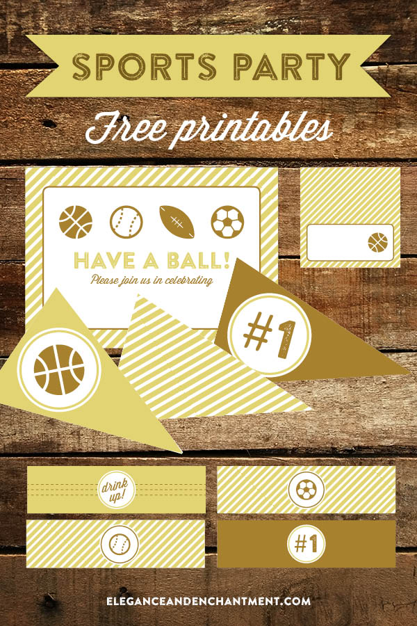 photograph regarding Free Printable Sports Birthday Invitations titled Athletics Occasion Printables