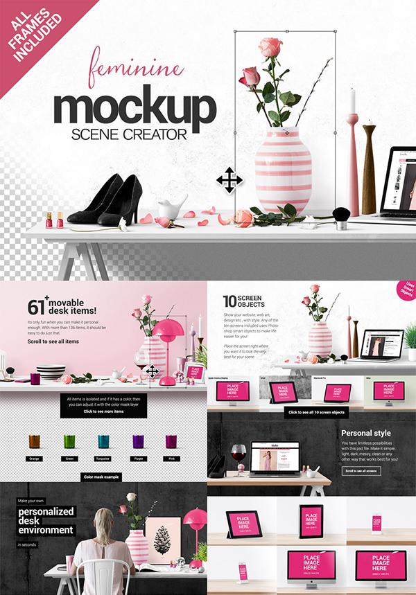 21 Fabulous Psd Mockups Michellehickey Design