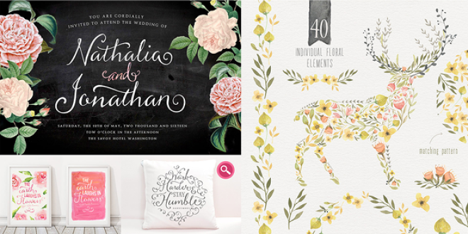 Creative Designer's Bundle of fonts, graphics and more - $29.00 for 31 items, for a limited time!