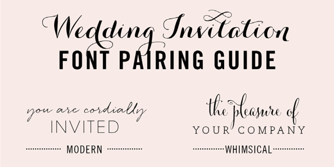 Fonts For Wedding Invitations: Wedding Invitation Font Pairing Guide