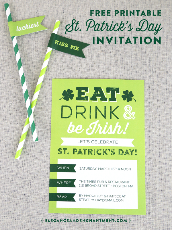 Printable St Patricks Day Invite – Free Party Invites