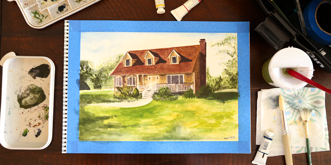 Elegance and Enchantment Creative Challenge Month 2 Results - This session was all about watercolor painting!
