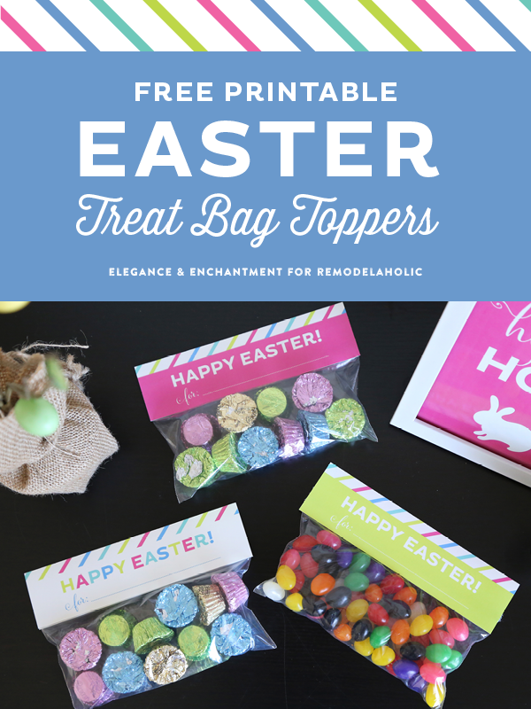 graphic regarding Free Printable Bag Toppers Templates referred to as Printable Easter Address Bag Toppers