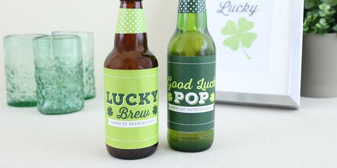 Printable St. Patrick's Day Irish Bottle Labels