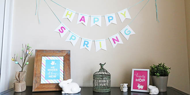 Happy Spring Bunting { Free Printable }