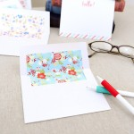 It's national letter writing month! Download these lovely envelope liners…