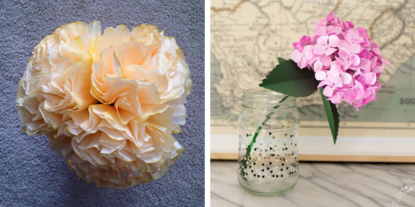 Elegance and Enchantment Creative Challenge Month 3 Results - This session was all about paper flowers. Join our free community of artists and makers as we explore a different creative project, every month!
