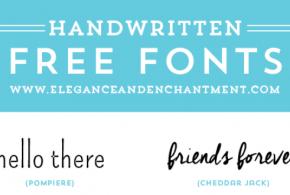 Free Handwritten Fonts