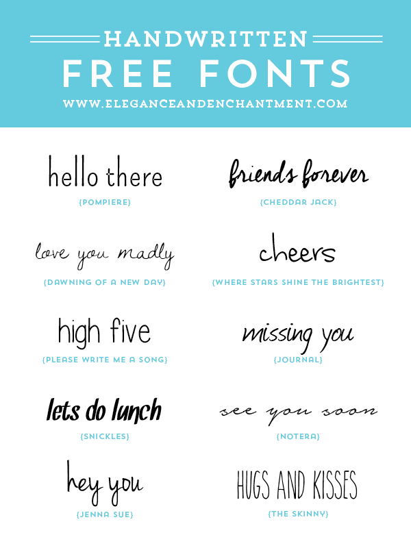 Free Handwritten Fonts For Graphic Design Web