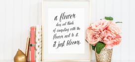 A flower does not compete printable