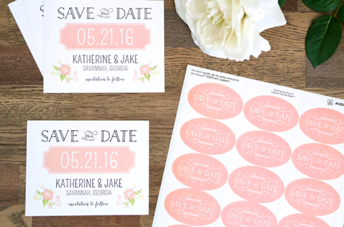 Save the Date Printable Cards and Stickers from Elegance and Enchantment