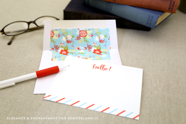 Free Printable Note Cards for any occasion // Set of four designs from Elegance & Enchantment for Remodelaholic