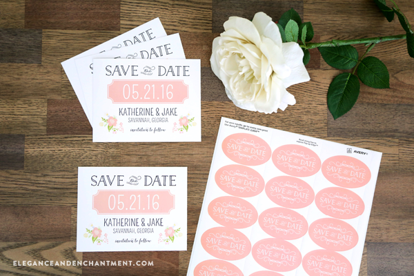 Printable Save the Date Cards and Stickers