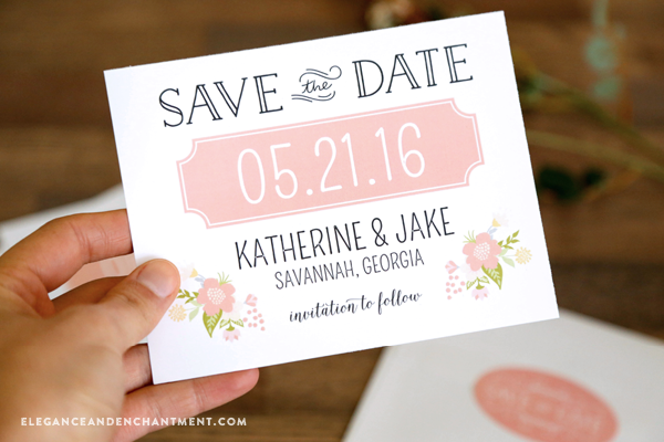 Printable Save The Date Cards And Stickers - Design your own save the date template