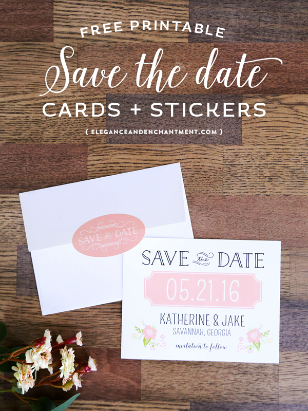 photo about Free Printable Save the Date identify Printable Help save the Day Playing cards and Stickers