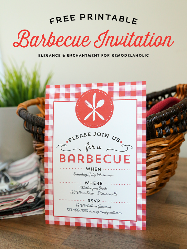 free printable barbecue invitations