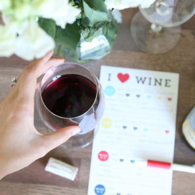 Free Wine Tasting Cards from Elegance and Enchantment