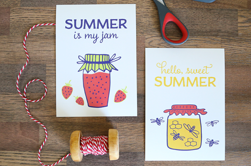 Free Art Printables for summer! Use these to decorate your home, or for a summer party. Available in an 8 x 11 and 5 x 7 sizes. Designs by Elegance and Enchantment for Today's Creative Blog.