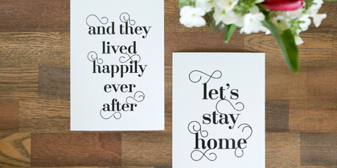 Free Typographic Art for your Home