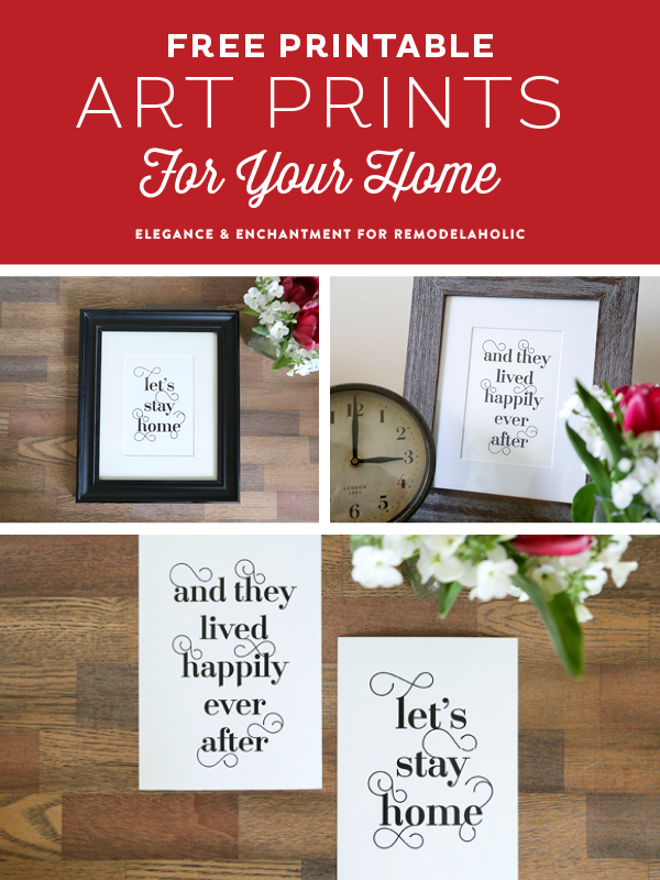 photograph regarding Free Printables for Home identified as Totally free Typographic Artwork for your Dwelling
