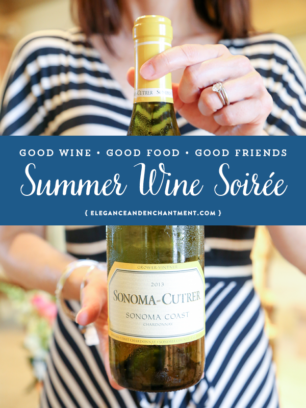 Summer is the perfect time to host a classy wine party! Here are some ideas for throwing a wine soiree, with help from Sonoma Cutrer. Includes a free printable wine tasting card download!