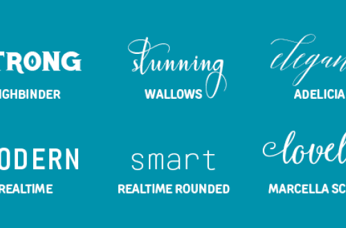24 Exceptional fonts for graphic design projects, web design, blogging, crafts, DIY projects and more!