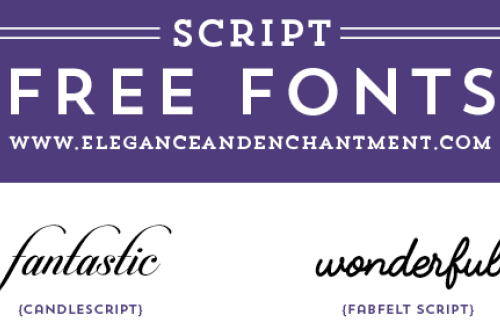 Free Script fonts for wedding invitations, graphic design projects, web design, DIY projects, crafts, blogging and more! From Elegance and Enchantment