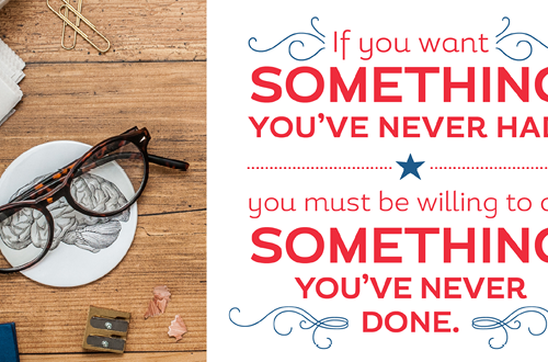 Weekly dose of free printable inspiration from Elegance and Enchantment! // If you want something you've never had, you must be willing to do something you've never done. - Thomas Jefferson // Simply print, trim and frame this patriotic quote for an easy, last minute gift or use it to update the artwork in your home, classroom or office.