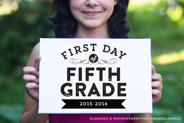 first day of school pdf