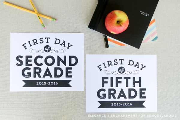 Free printable back to school signs for First day of school sign template