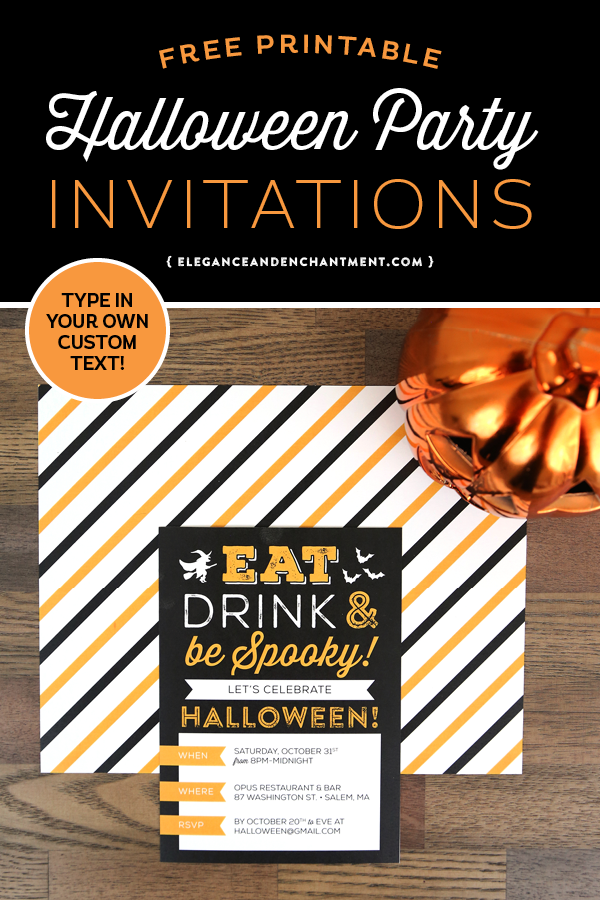 graphic about Printable Halloween Birthday Invitations identify Absolutely free Printable Halloween Get together Invitation