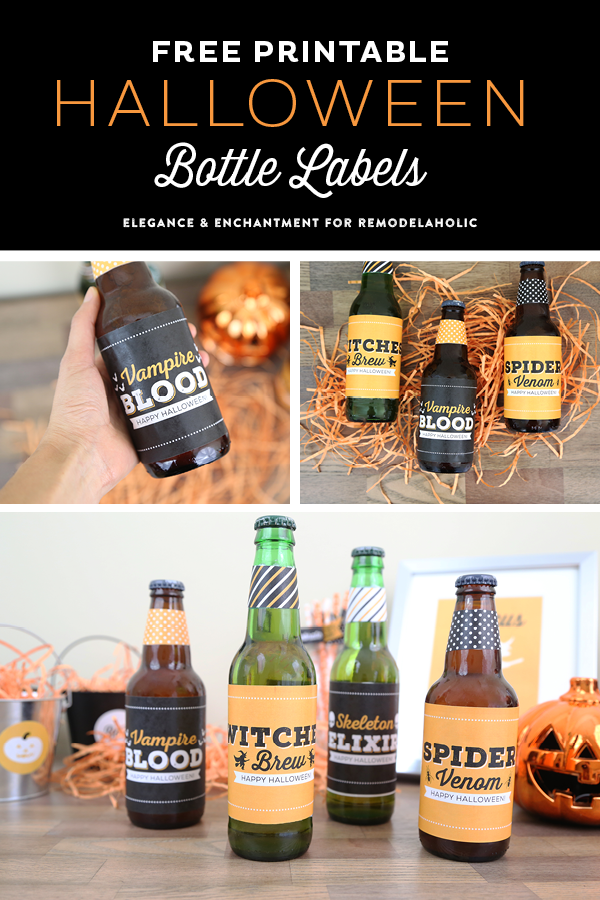 picture relating to Free Printable Halloween Bottle Labels named Cost-free Printable Halloween Bottle Labels